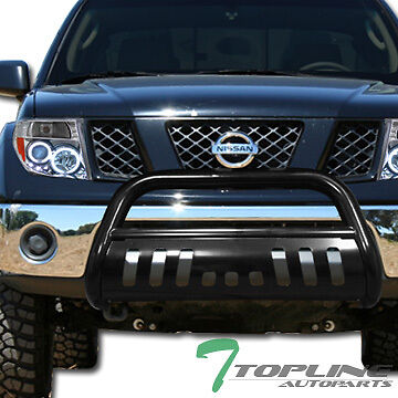 BLK STEEL BULL BAR BRUSH BUMPER GRILL GRILLE GUARD FOR 2005-2017 NISSAN FRONTIER