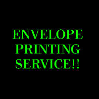 ENVELOPE DESIGN AND PRINTING SERVICES!!