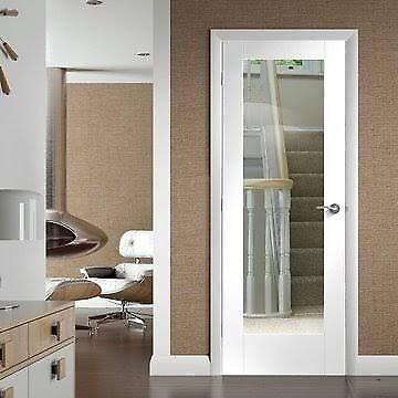 600 Door Xl Joinery Internal White Primed Pattern 10 Clear Glazed