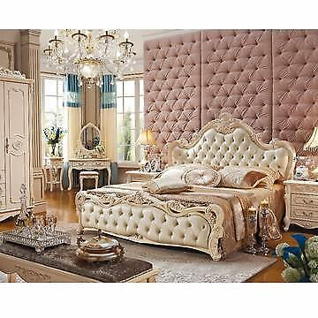 luxurious size king size leather soft bed frame beds