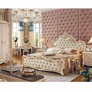 Luxurious Queen Size & King Size Leather Soft Bed Frame