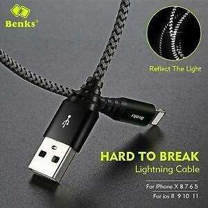 BENKS 2A FAST CHARGE LIGHTING CABLE FOR APPLE DEVICES