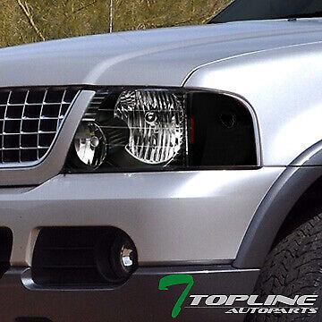 Topline For 2002-2005 Ford Explorer 4 Door Black Headlights Signal Corner Amber Ford Explorer Headlight Door