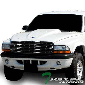 Topline For 1997-2004 Dodge Dakota/Durango Horizontal Front Bumper Grille - Blk