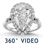 Pear GIA Diamond Engagement Rings