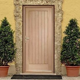 Brand New XL Joinery Suffolk Oak Mortice and Tenon Exterior Door