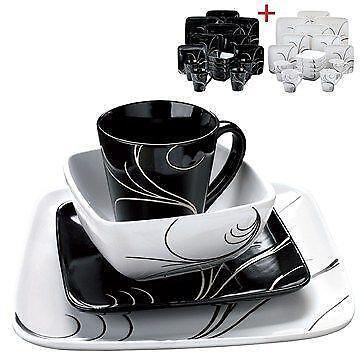 White Porcelain Dinner Set Ebay