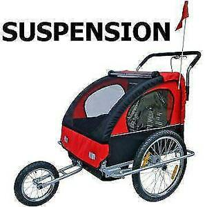 New 2 in 1 Suspension Bicycle Trailer Kids Bike Trailer Stroller