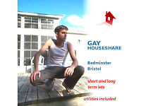 Gay house share, central Bristol, all utils free, and free internet