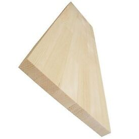 Pine Solid Natural Wood Shelf Boards Sill Tread Size: 100 x 29,5 x 3,5 cm. DIY
