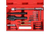 16pc Glow Plug Removal tool spark plug Damaged thread repair Tool Kit 8mm 10mm