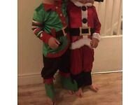 Father Christmas and Elf costumes £5 each