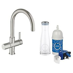 Grohe 31312DC0 Blue Pure Dual Function Faucet SuperSteel