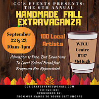 CCs Events 6th Annual Handmade Fall Extravaganza at The WFCU