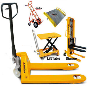 HAND PALLET TRUCK JACK DOCK PLATE BOARD RAMP WAREHOUSE SCALE