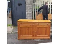Soild pine wood sideboard