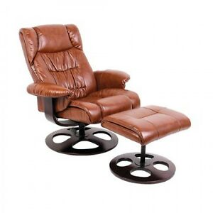 Faux leather recliner w/ Ottoman