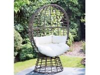 roma floor standing egg/cocoon chair