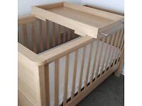 Mamas and Papas Horizon Nursery Furniture. Cotbed, side unit and wardrobe.