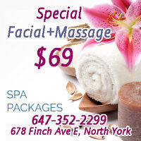 Special Facial and Massage only $69