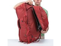 Osprey FarPoint 70L Backpack w/removable day bag in Red, AKA best travel backpack ever