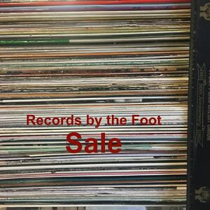 Vinyl Records - LPs by the foot SALE - from $10/foot (`80 LPs)