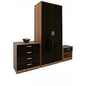 BEDROOM FURNITURE--Bed Room Set Alina 2 Door Wardrobe In Diff Colors Opt chest of drawers