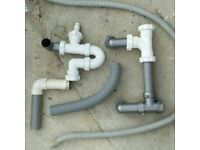 Plumbers water, drainage, washing machine outlet pipes, u bends