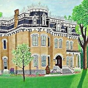 GLANMORE HOUSE PEGGY HOLCROFT ORIGINAL OIL PAINTING