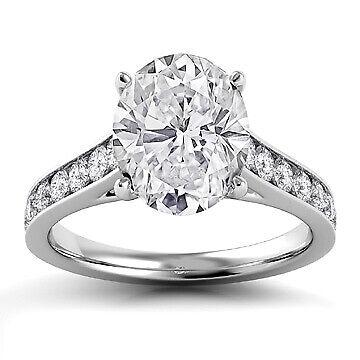 2.53ct GIA Halo Pave Set Oval Diamond Engagement Ring F/VS2 (5141012820)