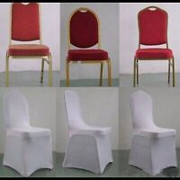 White spandex chair covers for sale!!