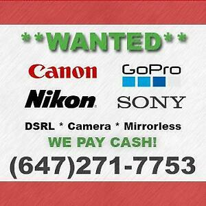 Buying Canon/Sony/Nikon/GoPro Cameras for CASH!