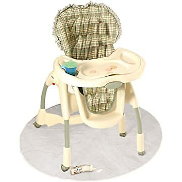 50 Inch Baby High Chair Infant Toddler Feeding Floor Protector Floor Mat Clear