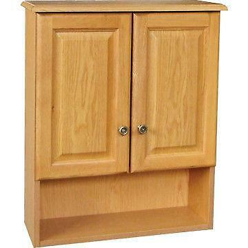 oak bathroom wall cabinet ebay