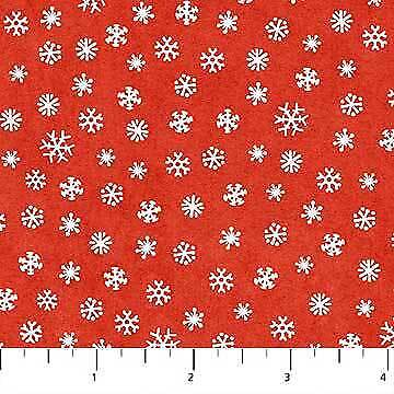 Clearance Sale~Best Tree in the Lot~Red Snowflakes~Christmas Cotton Fabric by No ()