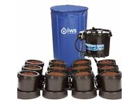 Used Hydroponics 24pot IWS Flood and Drain Self Feeding System with New 400L Flexi Tank