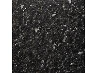 B&Q Ebony Granite Black Gloss Stone effect laminate worktop 3m long 600mm deep. Brand new
