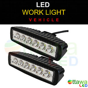 LED Work Light Bar Off road, Truck, Boat, RV, Trailer - Set of 2