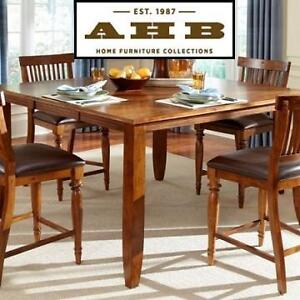 """NEW* AH DELPHINA 60"""" DINING TABLE - 120815198 - AMERICAN HERITAGE BUTTERFLY COUNTER HEIGHT"""