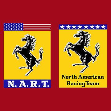 Ferrari NART Wing Decal, Vinyl Sticker Set