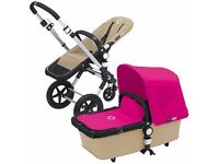 Bugaboo cameleon 3 sand and hot pink ltd edition all extras