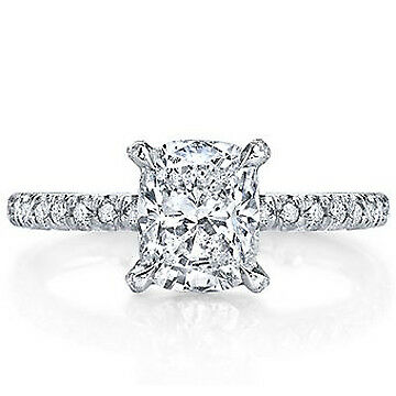 1.91ct GIA Cushion Diamond Vintage Engagement Ring F/SI2 (2158730665)