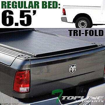 Topline For 2009-2018 Dodge Ram Rambox 6.4/6.5' Bed Tri Fold Tonneau Cover+Rail