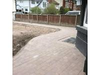 DRIVEWAY AND GARDENS PAVED