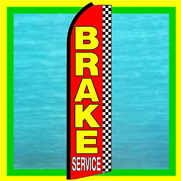 Brake Service Auto Repair Feather Swooper Banner Flag