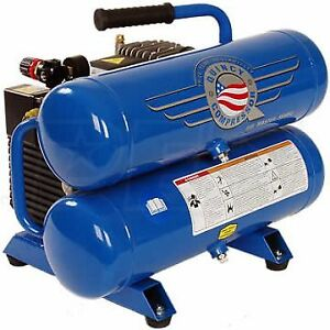 New quincy 2 hp 100 psi air compressor with tags and manuals