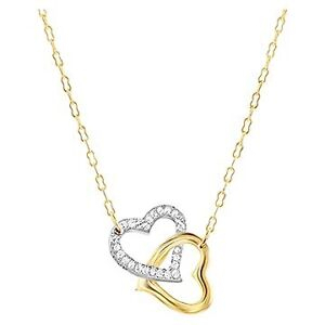 Swarovski two tone heart necklace.