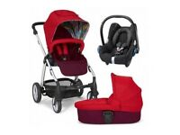 Mamas & Papas ** BRAND NEW BOXED** Sola 2 TravelSystem. Pushchair, Carrycot, Carseat + Footmuff