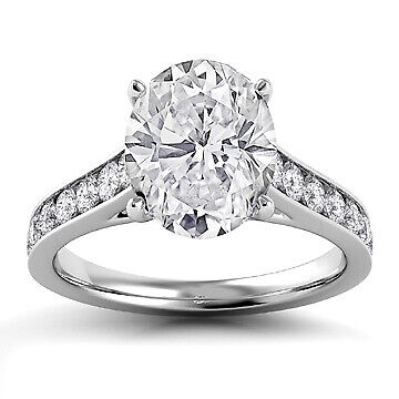 2.5ct GIA Pave Set Oval Diamond Engagement Ring E/SI2 (1156531646)