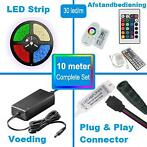 LED Strip RGB 10 meter compleet set type 5050 30 Led/m (2X R